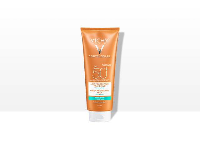 BEACH   PROTECT - Frisse hydraterende en beschermende zonnemelk - Gezicht &   Lichaam- SPF 50+