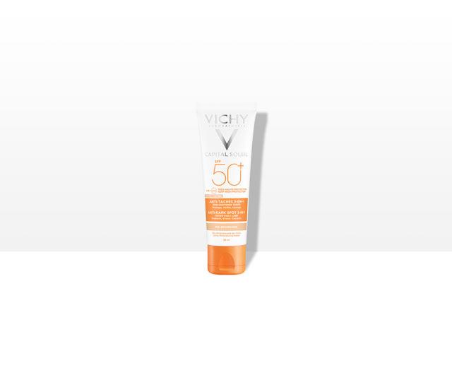 Getinte 3-in-1 Verzorging Tegen Pigmentvlekken SPF50+