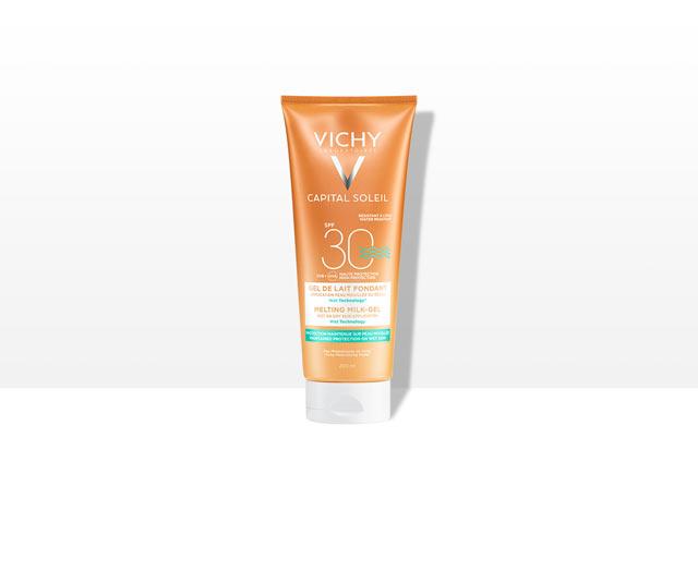 Ultrasmeltende Melkgel  voor op vochtige of droge huid SPF30
