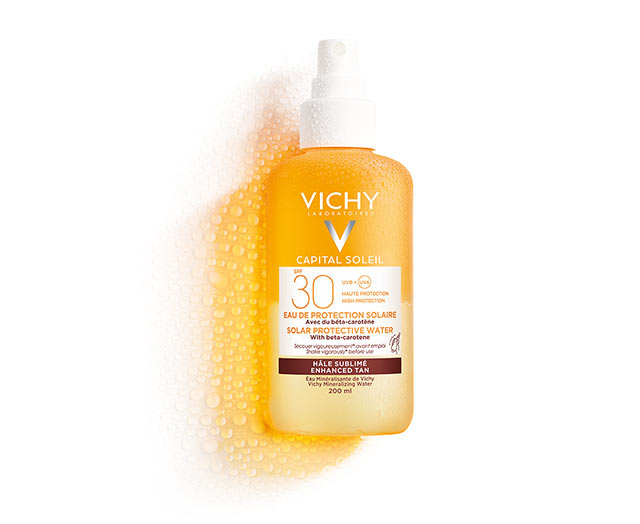 Ideal Soleil Zonbeschermend Water SPF 30 – Optimale bruine teint | Vichy