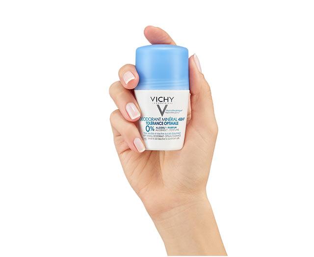 Minerale Deodorant   Roller 48u Optimale Tolerantie