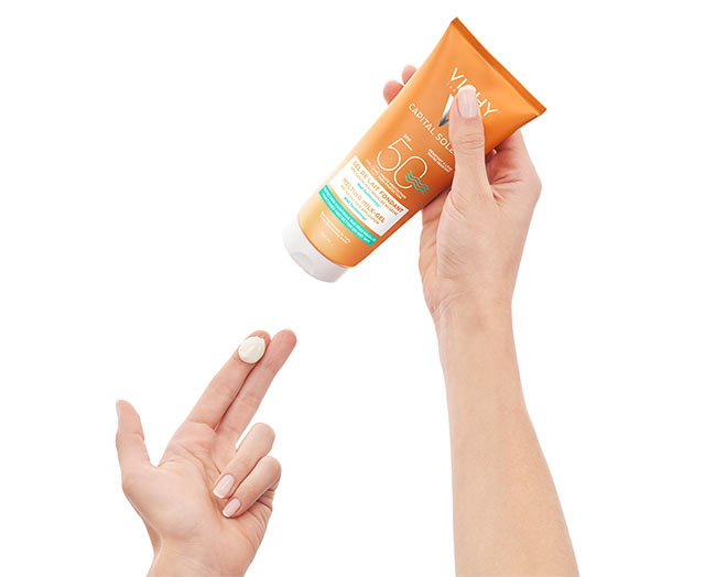 Ultrasmeltende Melkgel  voor op vochtige of droge huid SPF50