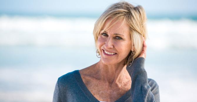 Dunner wordend haar tegengaan tijdens de menopauze