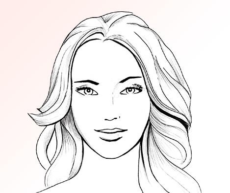 make up producten tekening